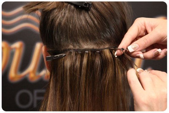 Micro Ring Weft Hair Extension Technique 112