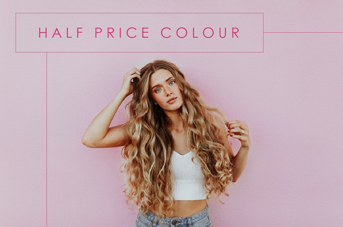 Half Price Colour in January 2020 at Hair Ministry salons, Ipswich