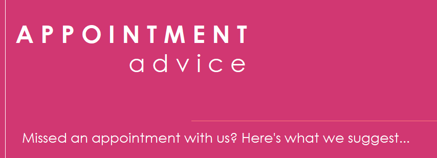 appointment advice banner
