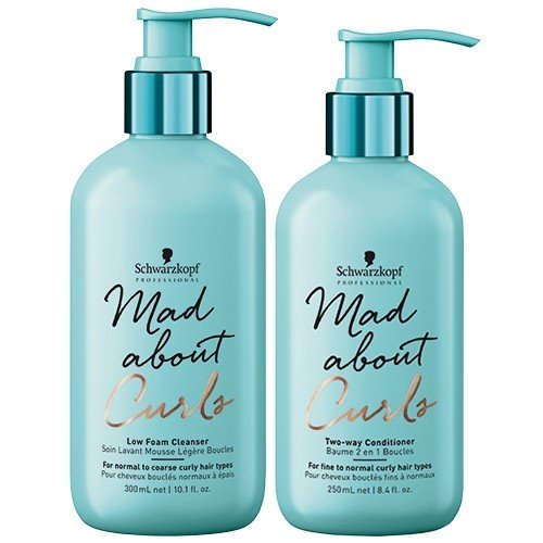 Mad about curls high foam cleanser and conditioner