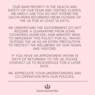 Important Travel Policy – Please Read