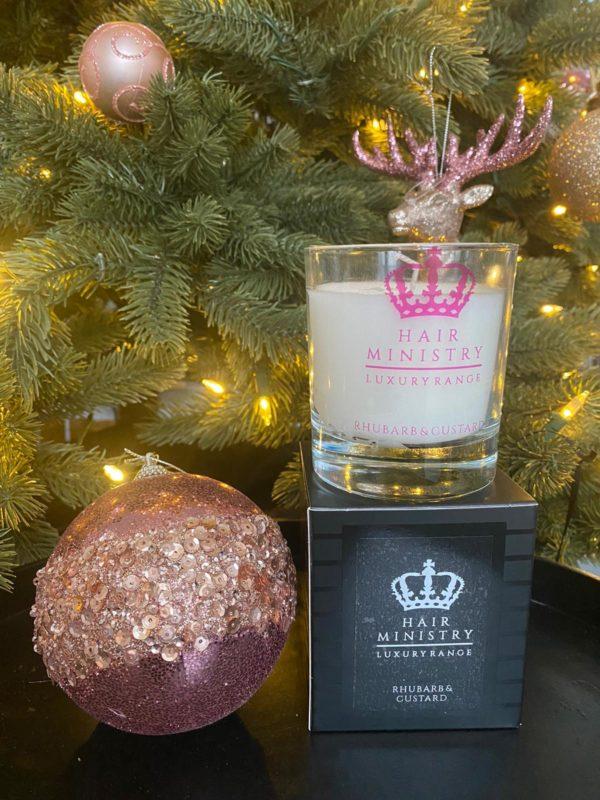 Hair Ministry Rhubarb & Custard Candle