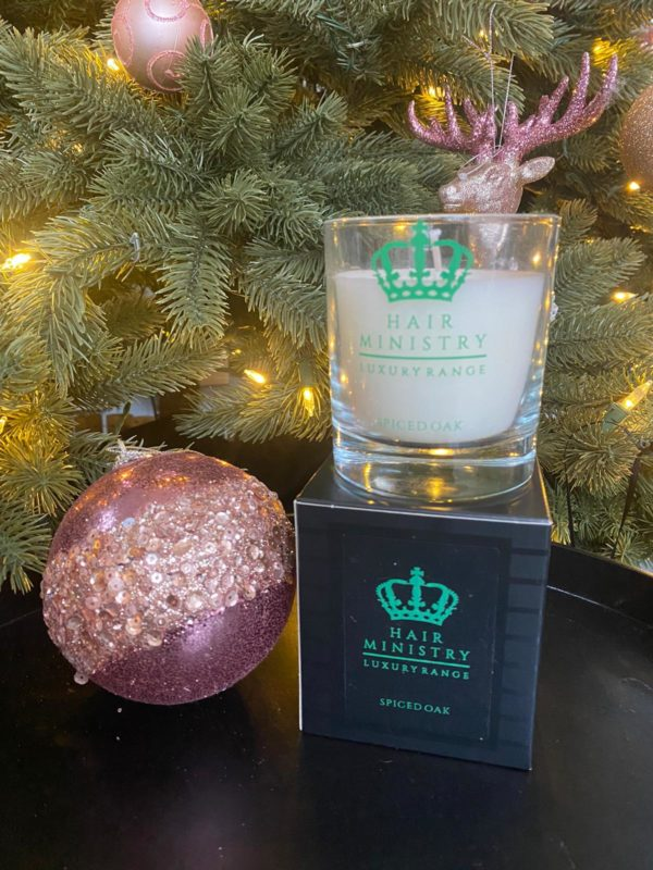 Hair Ministry Spiced Oak Candle