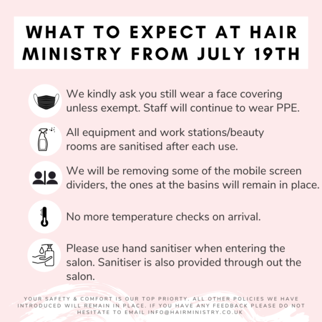 Hair ministry safety list 2