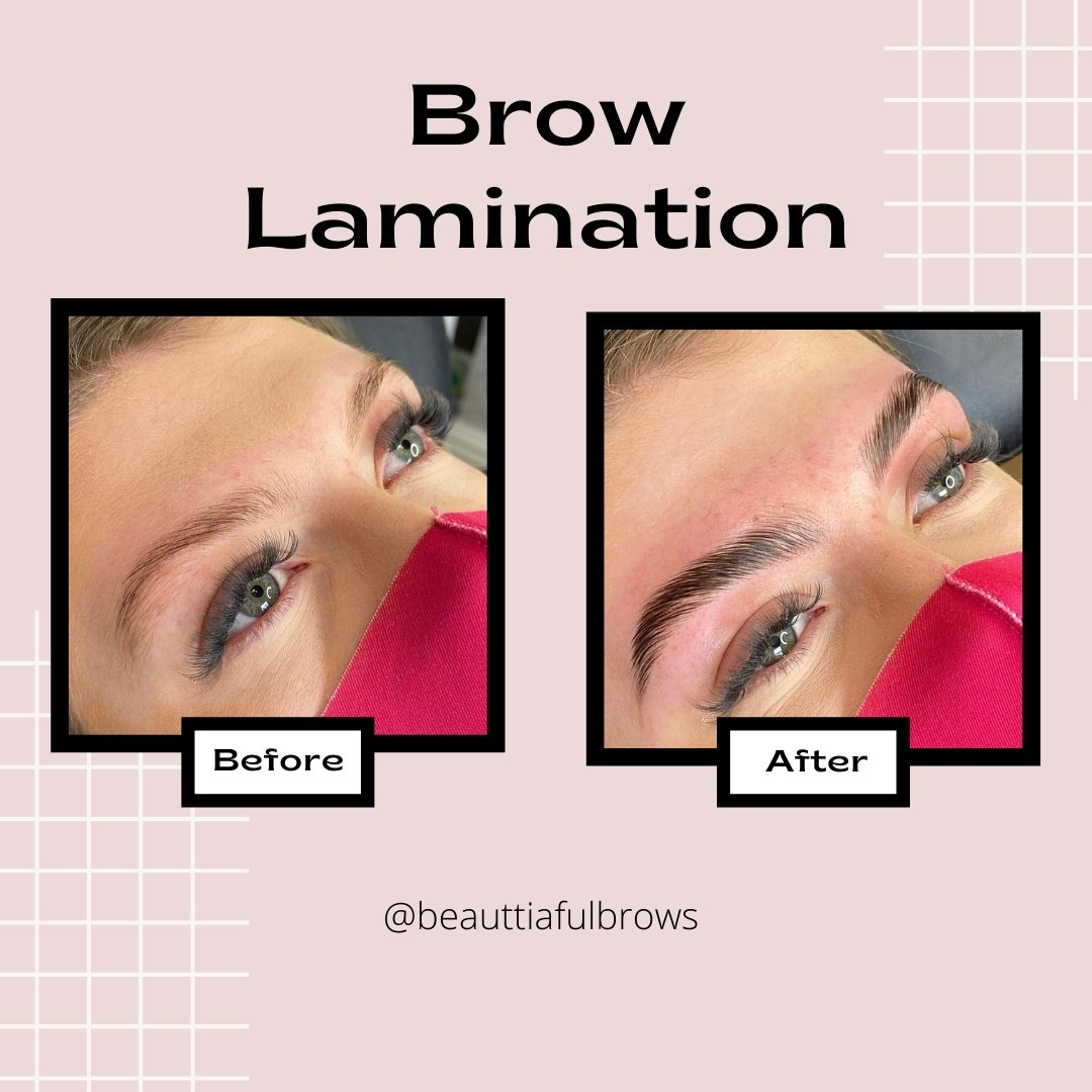 brow lamination beauttiaful brows before after