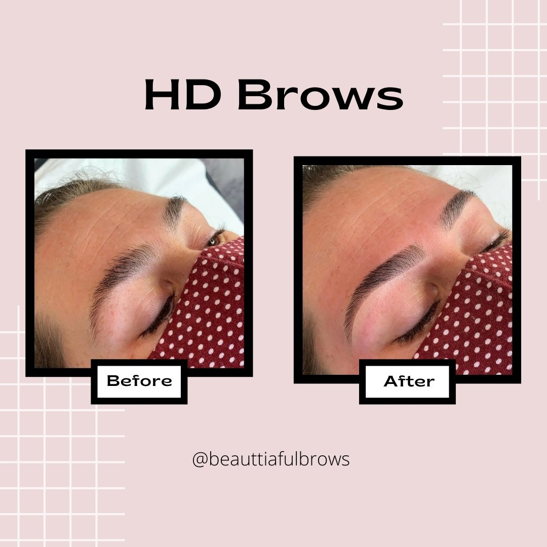 hd brows beauttiaful brows before after