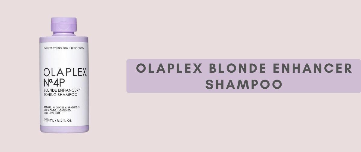 Olaplex blonde shampoo at hair ministry banner