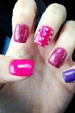 multi coloured nails
